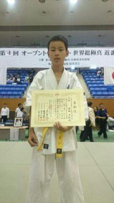 小学6年男子中級第3位澤田隼和